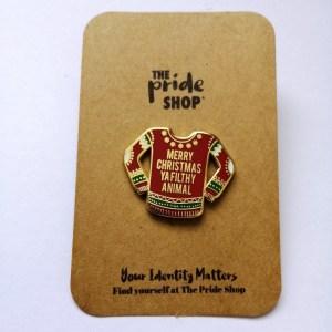 Home Alone Christmas Jumper Pin Badge