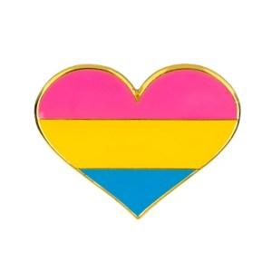 Pansexual Flag Heart Pin Badge