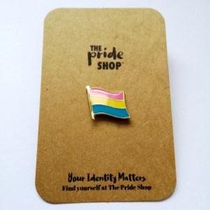Pansexual Waving Flag Pin Badge