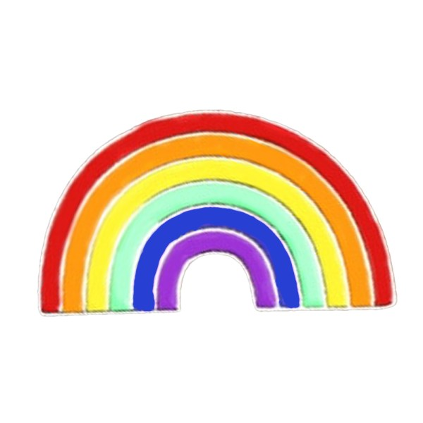 Rainbow Pride Flag Pin Badge