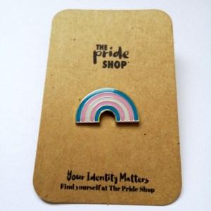 Transgender Flag Rainbow Pin Badge