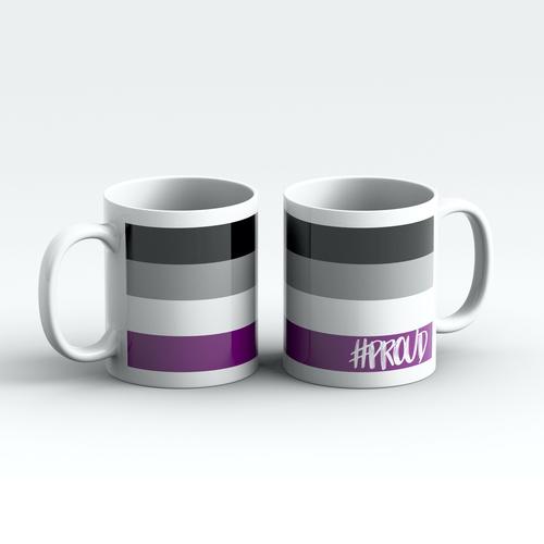 ASEXUAL #PROUD Pride Mugs Pair