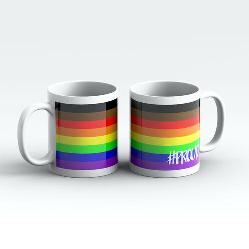 BAME RAINBOW #PROUD Pride Mugs Pair