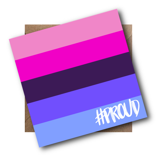 OMNISEXUAL PROUD CARD WITH ENVELOPE