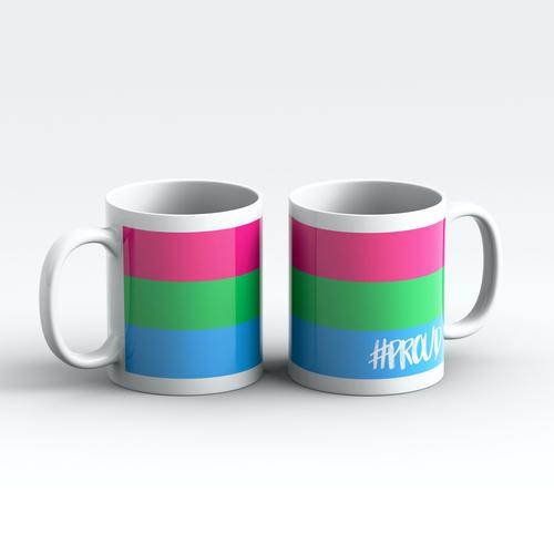 POLYSEXUAL #PROUD Pride Mugs Pair