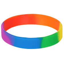Rainbow Silicone bracelet