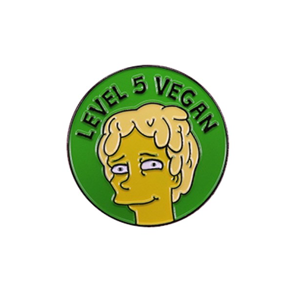 Level 5 Vegan Pin Badge