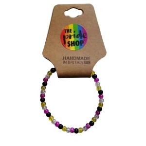 Non-Binary Crackle Bead Bracelet