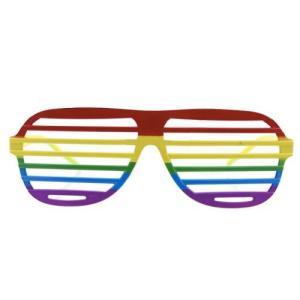 Gay Pride Rainbow Shutter Sunglasses