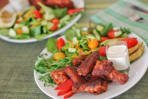 Paleo Chipotle Strawberry Chicken Wings00002