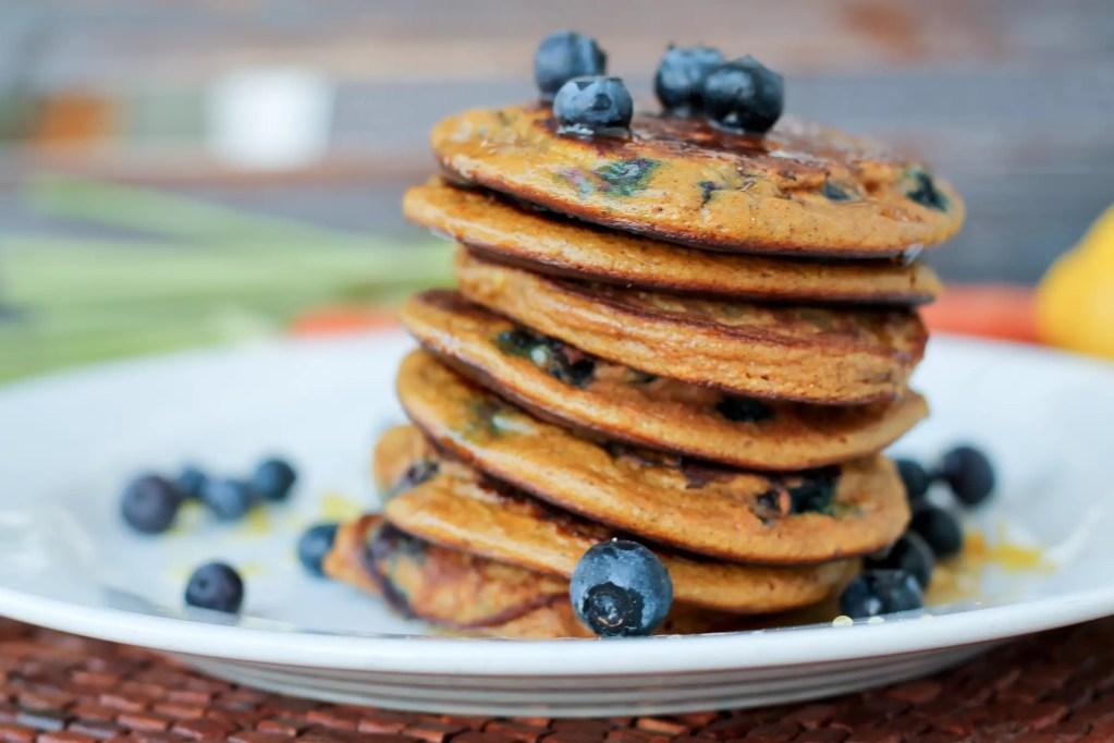 Pancakes – Carrot, Blueberry and Lemon
