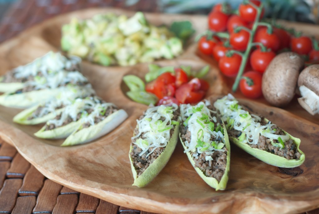 Beef Mushroom Endive Taco Boats