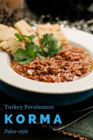 Paleo Turkey Persimmon Korma - www.ThePrimalDesire.com