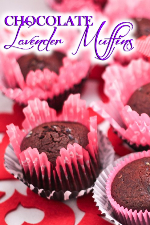 Paleo Chocolate Lavender Muffins. Rich dark chocolate and a hint of lavender make fluffy grain free muffins a new love for breakfast, snack or sweet treat.