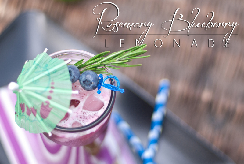 Rosemary Blueberry Paleo Lemonade   { and Antique Reed Wicker Chest }