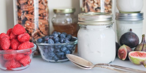 Dairy free and paleo-friendly, how-to make Instant Pot Coconut Yogurt. Thick, rich, and tangy Greek style coconut yogurt. https://www.theprimaldesire.com/instant-pot-coconut-yogurt/