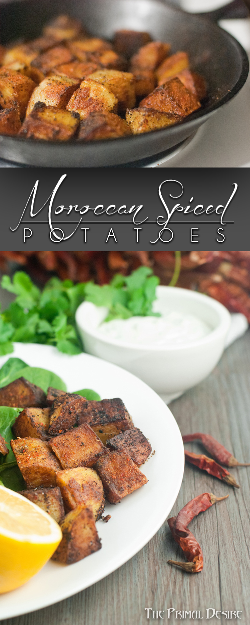 Moroccan Spiced Potatoes - pin