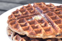 Banana Flour Waffles are easy, delicious, and grain, gluten, nut and dairy free. Looking for a fruit and vegetable filled breakfast? These are a hit, with young and old alike! http://wp.me/p4Aygm-24H