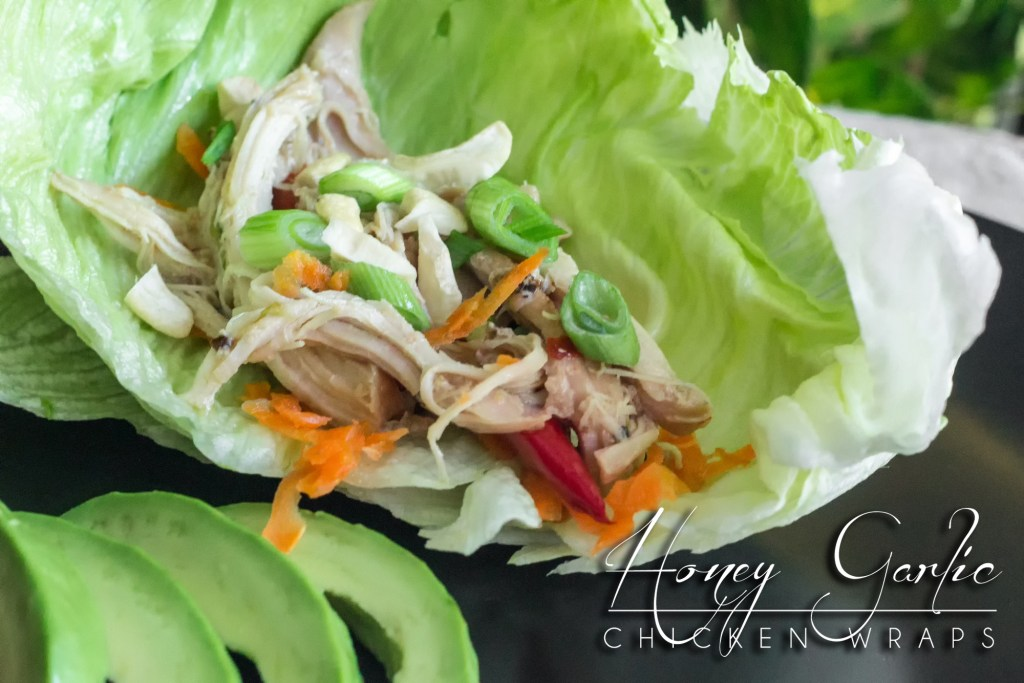 Instant Pot Honey Garlic Chicken Lettuce Wraps