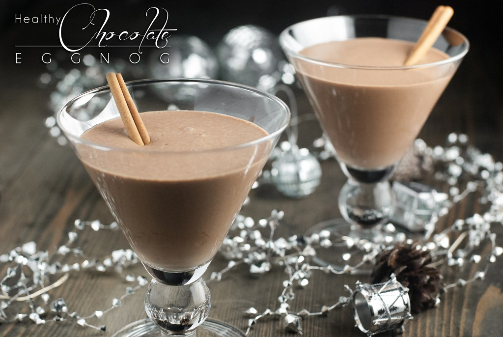 A fun twist on the classic eggnog, this healthy chocolate eggnog is dairy free, refined sugar free, and paleo for a fun, healthier option this Christmas! http://www.theprimaldesire.com/healthy-chocolate-eggnog/