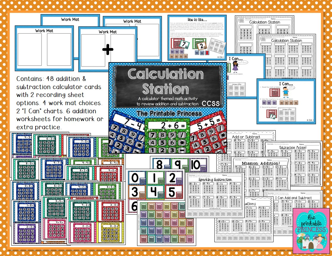 Calculation Station Addition Amp Subtraction Kindergarten