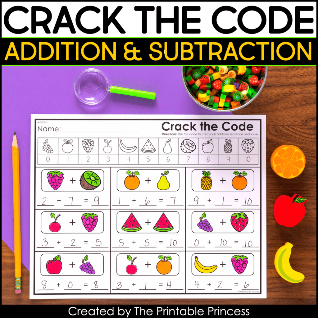 Crack The Code Addition And Subtraction Worksheets