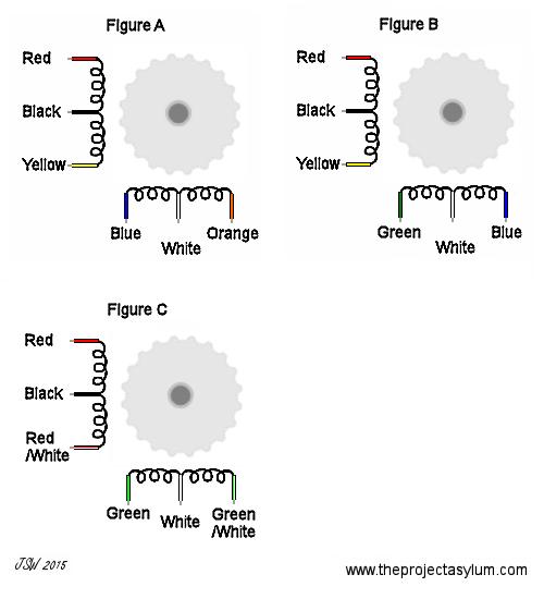 stepper motor wiring color code data diagram update