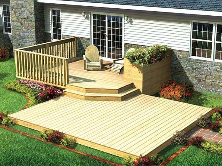 split level patio deck plan
