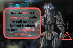 A.I. companies unite to call on the UN to ban autonomous weapons