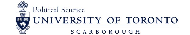 Political Science – University of Toronto Scarborough