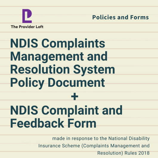 NDIS Complaints Management