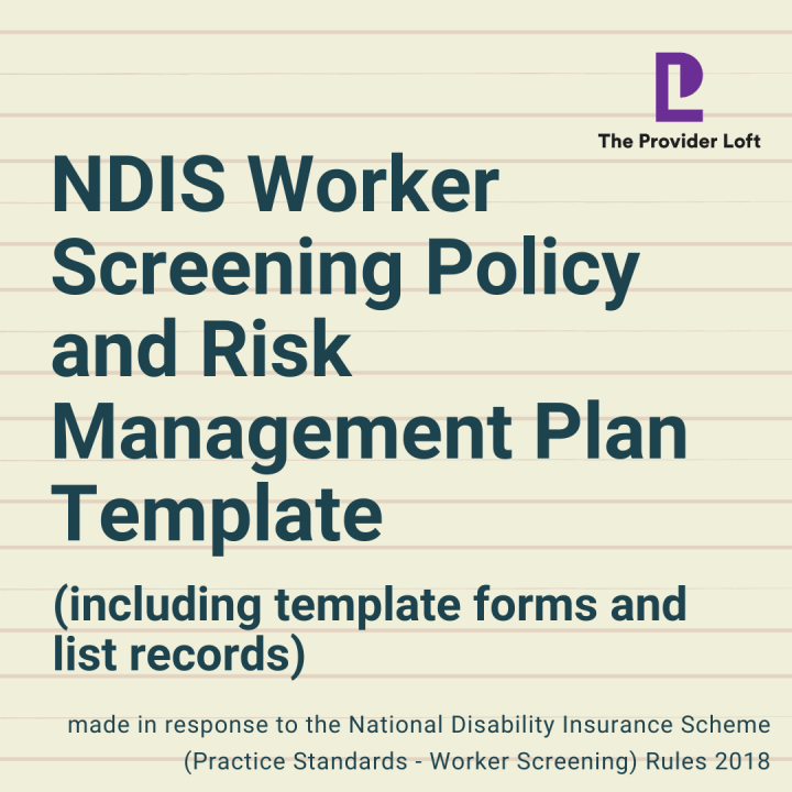 NDIS Worker Screening Policy