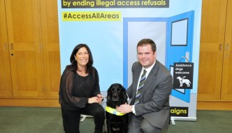 Torbay MP Kevin Foster with Guide Dogs #access all areas
