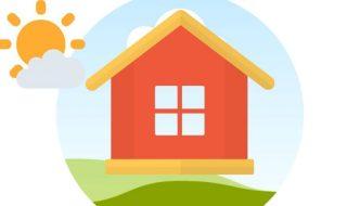 cartoon illustration of a house
