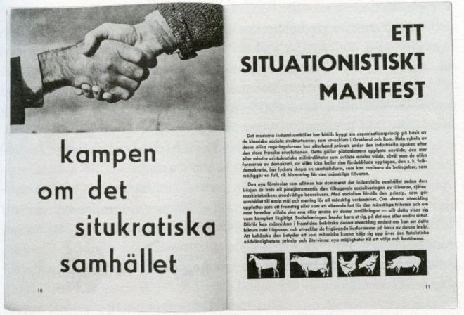 The Situationist International manifesto - Image via pinterestcom