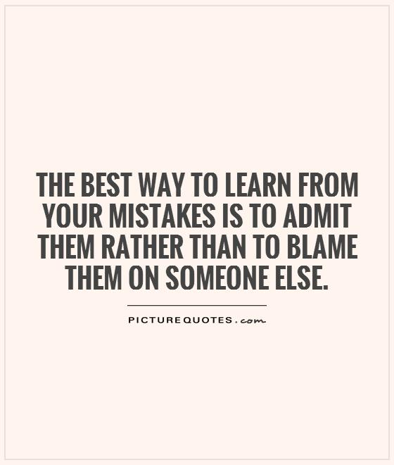 Learning from mistakes is not an easy task to accomplish