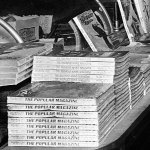 "Here is a detail from the previous photo of an Anaheim, Calif., store showing early 1911 issues of ""The Popular Magazine."""