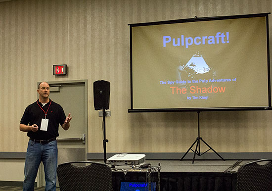 """Tim King talks about spy tactics used in """"The Shadow"""" magazine."""