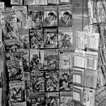 Pulp, and comic books, on display at a St. Louis, Mo., store in January 1939.
