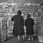 In late May 1942, this newsstand in Southington, Conn., is a treasure trove of pulps — a stack on the left and others scattered on the shelves.