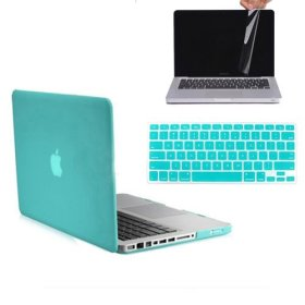 RUBAN™ 3 in 1 MATTE Hard Case Cover and Keyboard Cover with LCD Screen Protector for Macbook Pro 13-inch 13″ A1278/with or without Thunderbolt (TIFFANY BLUE)