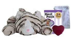 Snuggle Pet Products Snuggle Kitties Behavioral Aid Toy for Pets, Tan Tiger