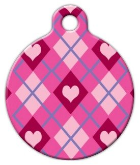 """Lupine Pattern """"Puppy Love"""" – Custom Pet ID Tag for Dogs and Cats – Dog Tag Art – SMALL SIZE"""