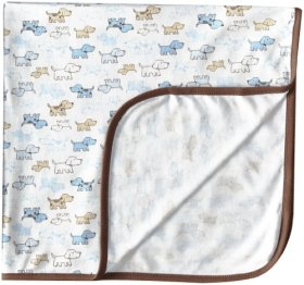 Little Me Baby-Boys Newborn Cute Puppies Blanket, White Print, One Size