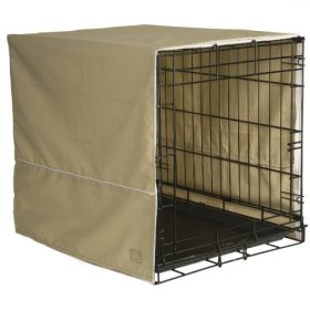 Pet Dreams 36 by 23-Inch Classic Crate Cover, Large, Khaki