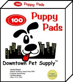Super-Absorbent Polymer PUPPY PADS – Dog Wee Wee Housebreaking Disposable Training Pads – 100 Count