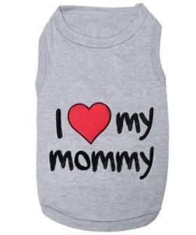 Pet I Love Mommy Dog T-Shirt, Medium