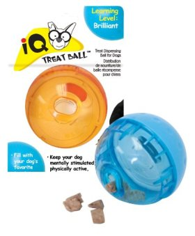 Our PetsSmarter Toys IQ Treat Ball Dog Toy, 3 Inches (Colors may vary)