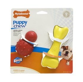 Nylabone Puppy Rubber Chew Toy Play Pack