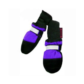 Muttluks Fleece Lined 2.25-Inch to 2.75-Inch Dog Boots, X-Small, Purple, Set of 4